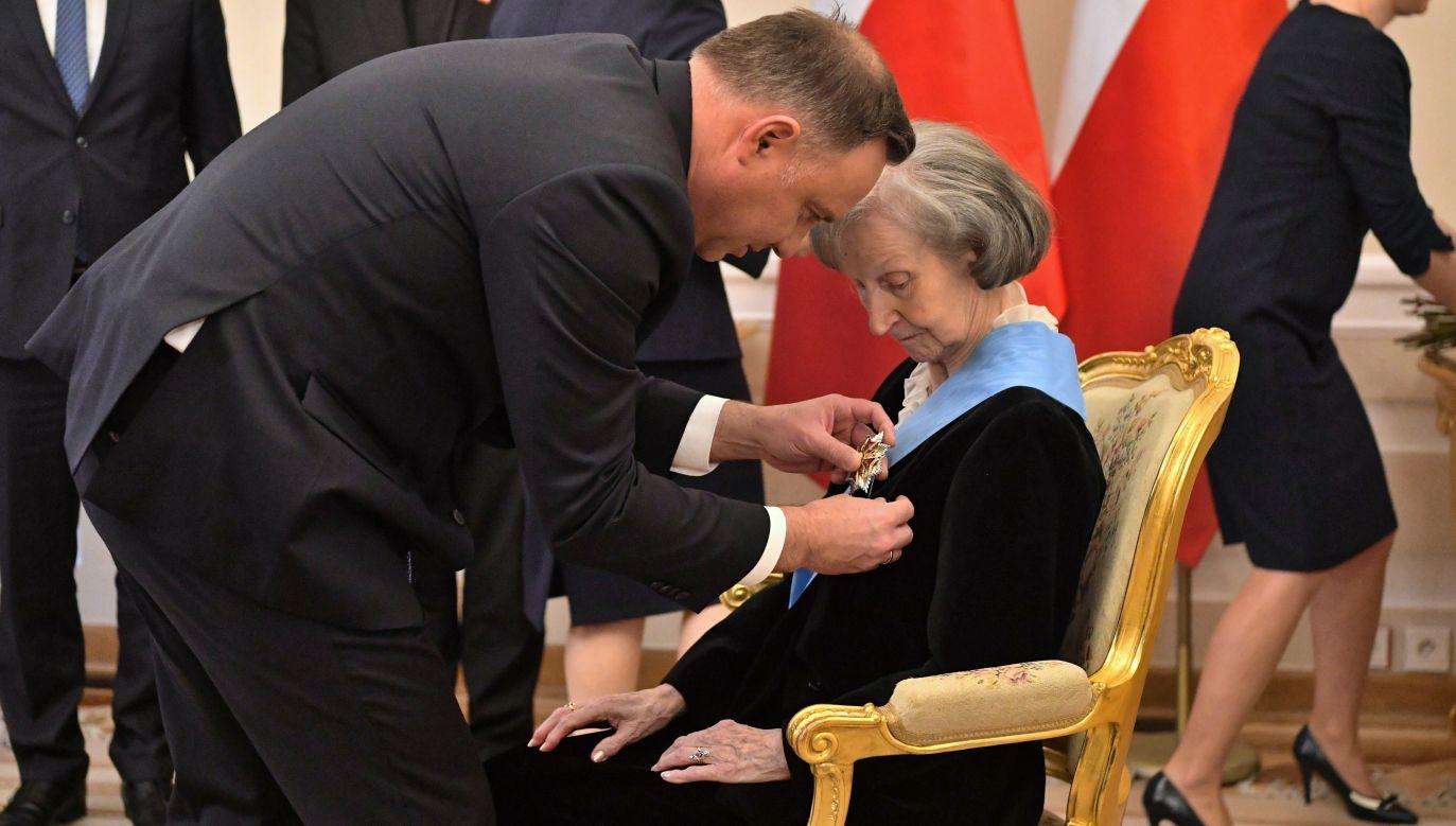 Zofia Posmysz-Piasecka była więźniarką niemieckich obozów w Auschwitz-Birkenau, Ravensbrück i Neustadt-Glewe (fot. PAP/Piotr Nowak)