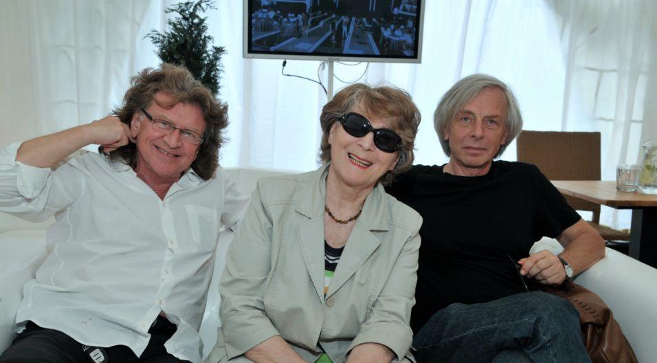 Zbigniew Wodecki, Irena Santor i Włodzimierz Korcz (fot. Ireneusz Sobieszczuk/TVP)