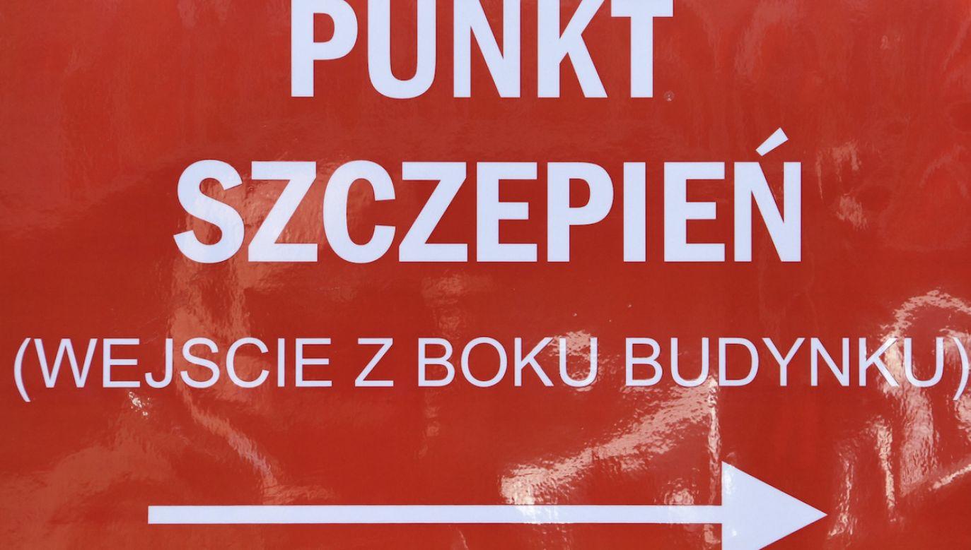 Punkt szczepień w Rzeszowie (fot. PAP)