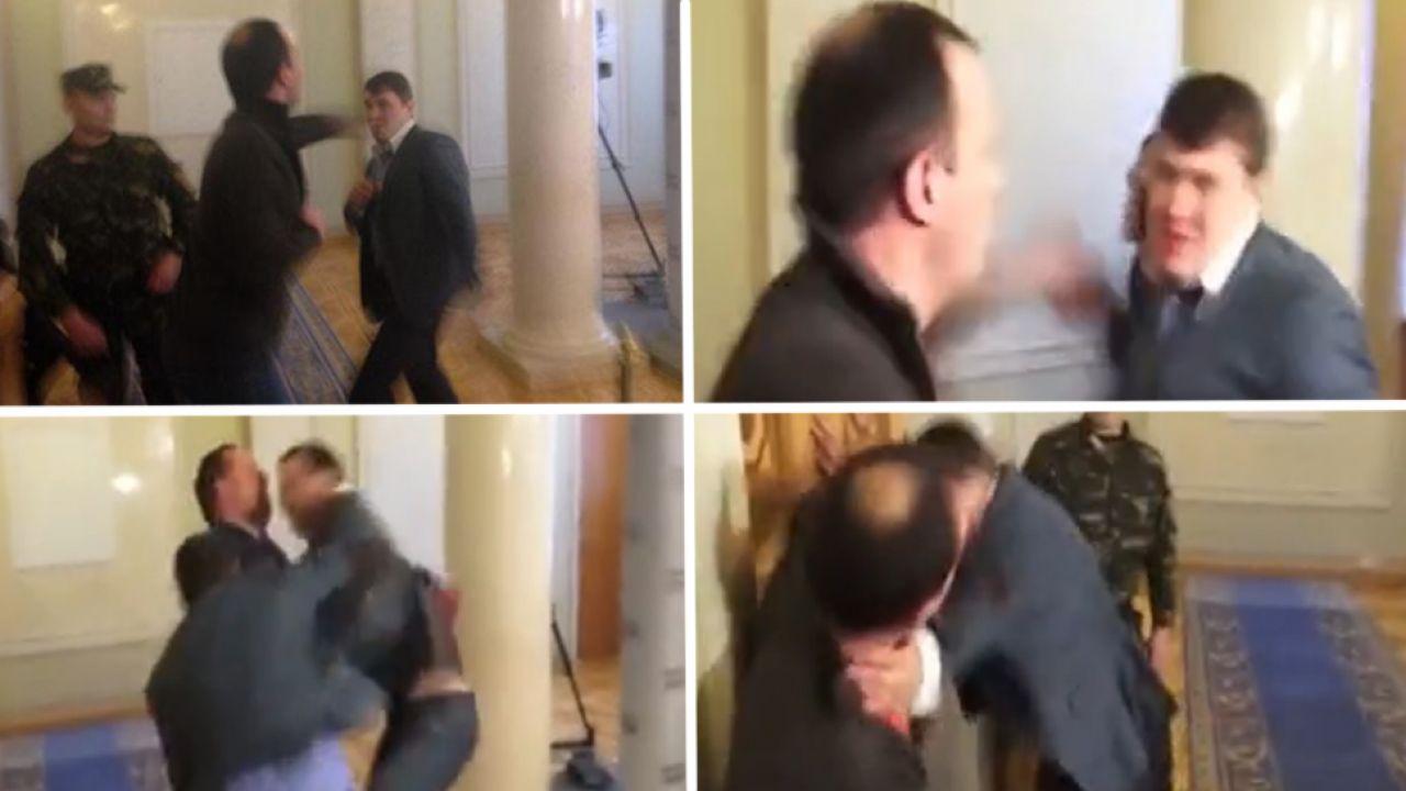 Krewkich parlamentarzystów rozdzieliła ochrona (fot. Censor.net.ua)