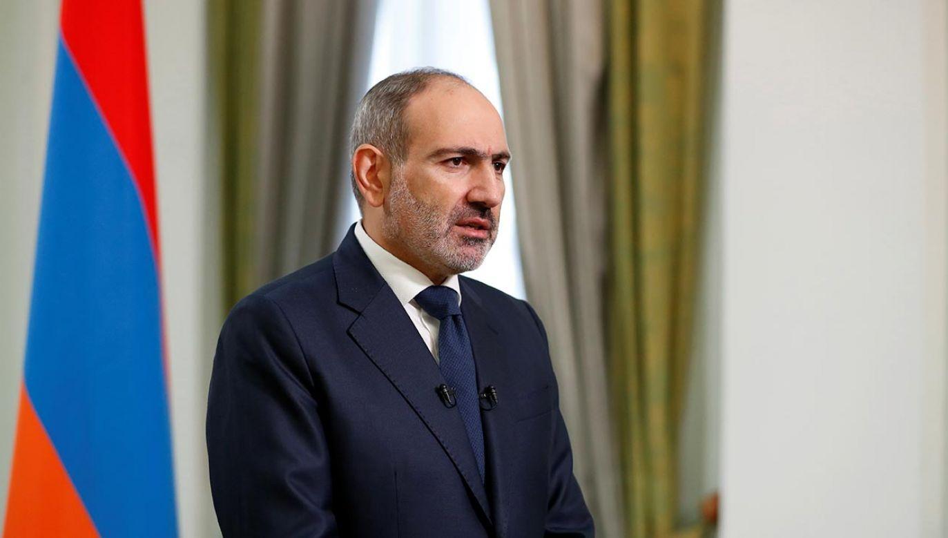 Premier Armenii Nikoł Paszynian (fot. Armenian Prime Minister Press Service/Tigran Mehrabyan/PAN Photo via REUTERS)