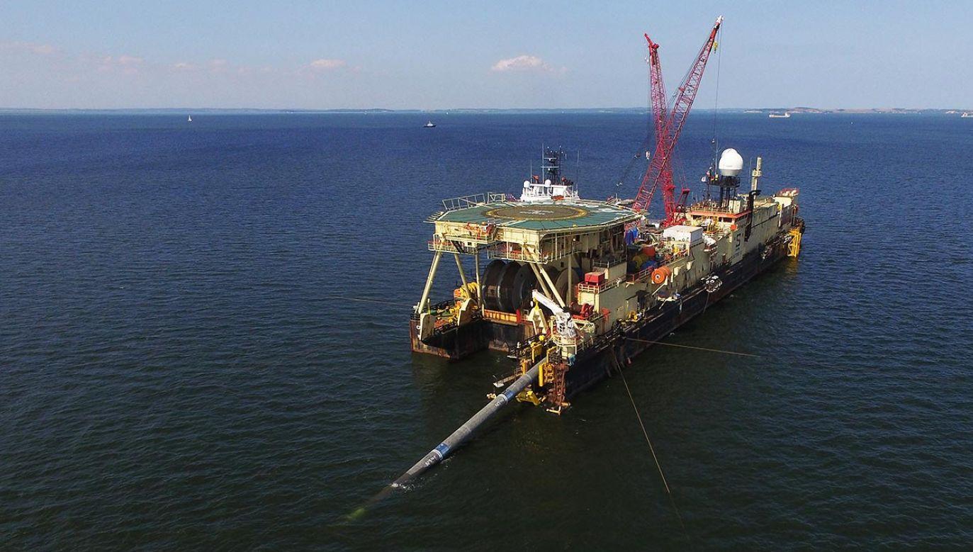 Budowa Nord Stream 2 ma być wznowiona jeszcze w maju (fot. Sean Gallup/Getty Images)