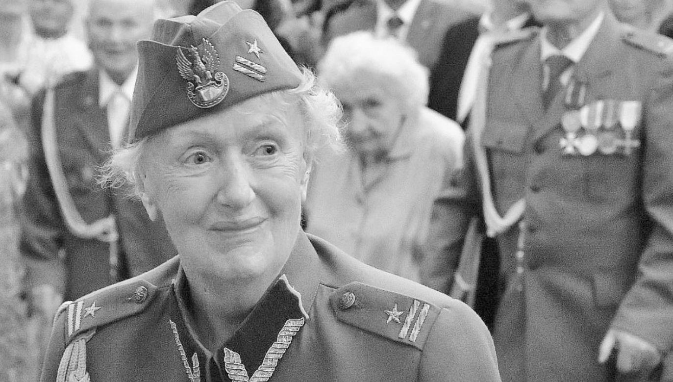Żołnierz Powstania Warszawskiego,żołnierz Narodowych Sił Zbrojnych,zawsze walcząca o dobrą pamięć o NSZ - napisał o zmarłej Jan Kasprzyk  (fot. TT/Jan Kasprzyk)
