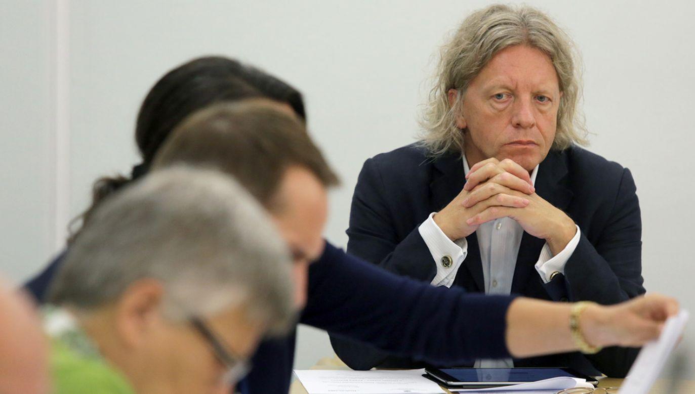 Poseł Krzysztof Mieszkowski zadeklarował się jako pacyfista (fot. arch.PAP/Tomasz Gzell)