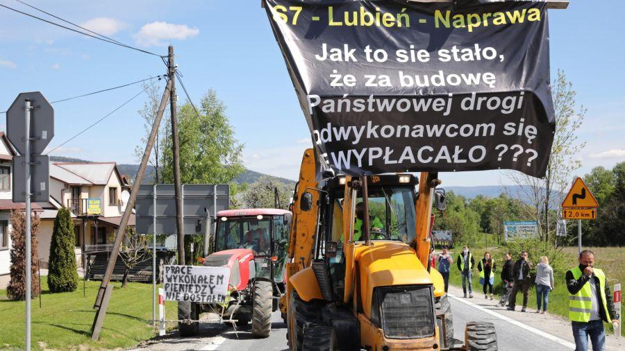 Protest na Zakopiance, fot. PAP/Grzegorz Momot