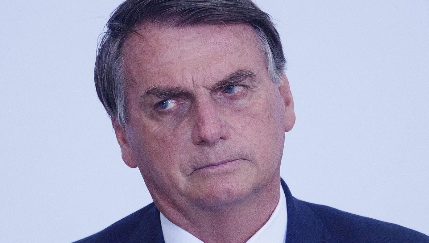 Prezydent Brazylii Jair Bolsonaro (fot. PAP/EPA/Joedson Alves)