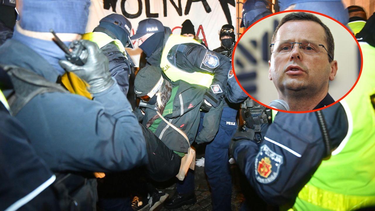 Strajk Kobiet. Mariusz Sokołowski komentuje działania policji (fot. PAP/Radek Pietruszka, arch. PAP/Marcin Obara)