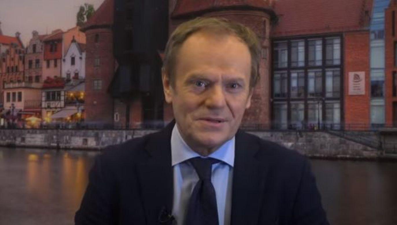 Tusk podziękował CDU za postawę w czasie pandemii koronawirusa (fot. Youtube)