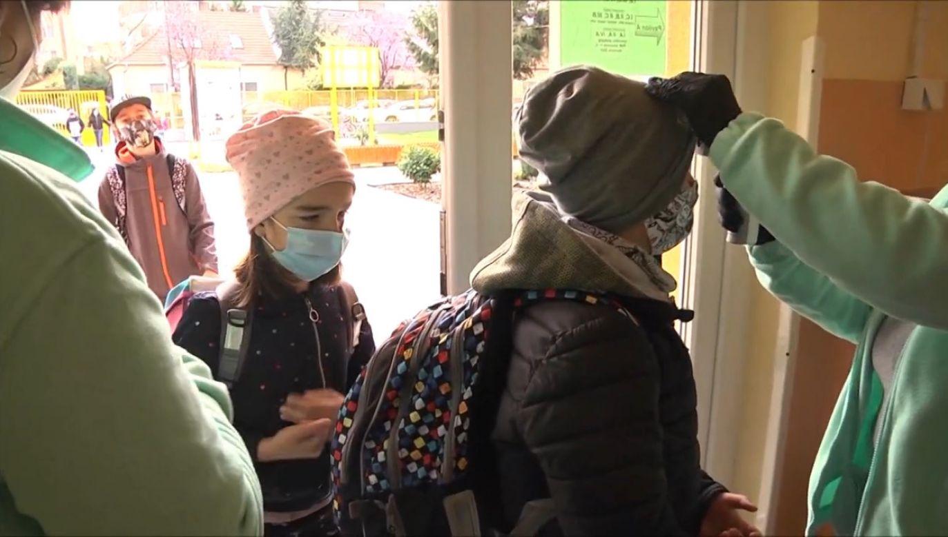 Uczniowie na Słowacji wracają do szkół (fot. EBU/tv SLOVENSKA)