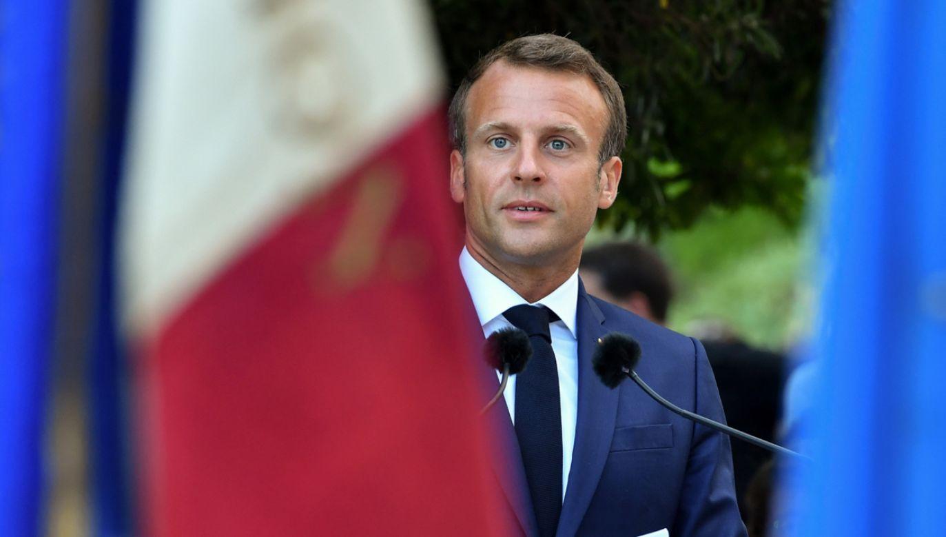 Prezydent Emmanuel Macron  ma odwiedzić Polskę na początku 2020 roku (fot. PAP/EPA/YANN COATSALIOU / POOL)