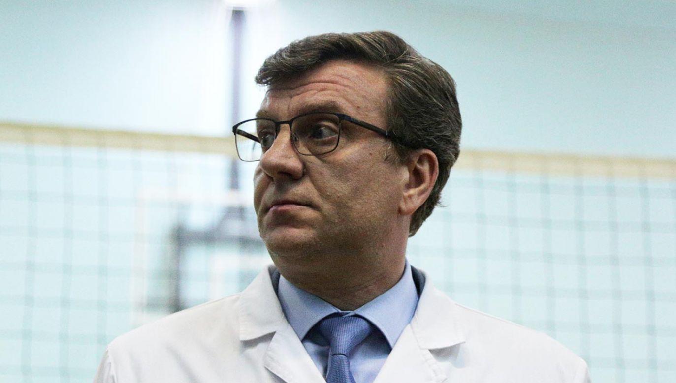 Murachowski (na zdjęciu) otrzymał awans kilka miesięcy po hospitalizacji Nawalnego (fot. Yevgeny Sofiychuk\TASS via Getty Images)