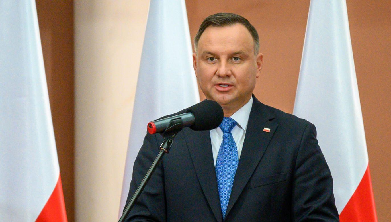 Prezydent Andrzej Duda będzie ubiegał się o reelekcję (fot. PAP/Paweł Topolski)