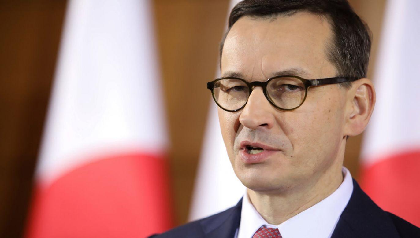Szef rządu dodał, że miejsce Polski jest po stronie prawdy (fot. PAP/Leszek Szymański)