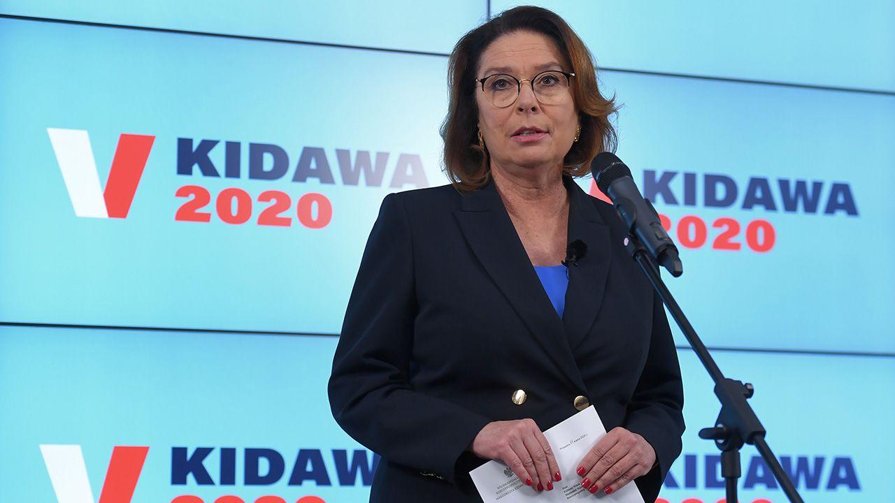 Kandydatka PO na prezydenta Małgorzata Kidawa-Błońska zmieniła zdanie ws. terminu wyborów prezydenckich. Chce, żeby odbyły się w późniejszym terminie (fot. PAP/Piotr Nowak)