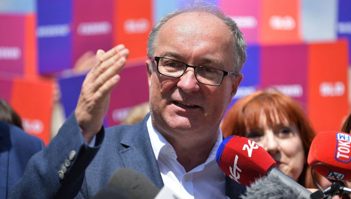 Szef SLD Włodzimierz Czarzasty (fot. PAP/Marcin Obara)