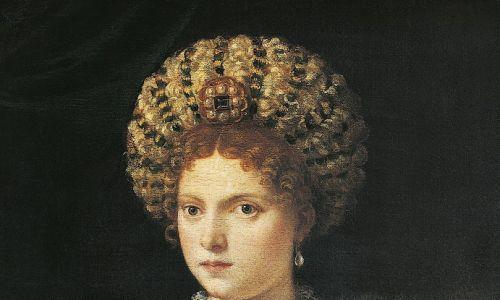Isabella d'Este, odmłodzona przez Tycjana o dobre czterdzieści lat. Fot. DeAgostini/Getty Images