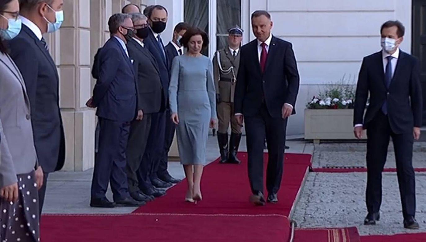 Będzie to jej pierwsza wizyta od zwycięstwa w ubiegłorocznych wyborach (fot. TVP)