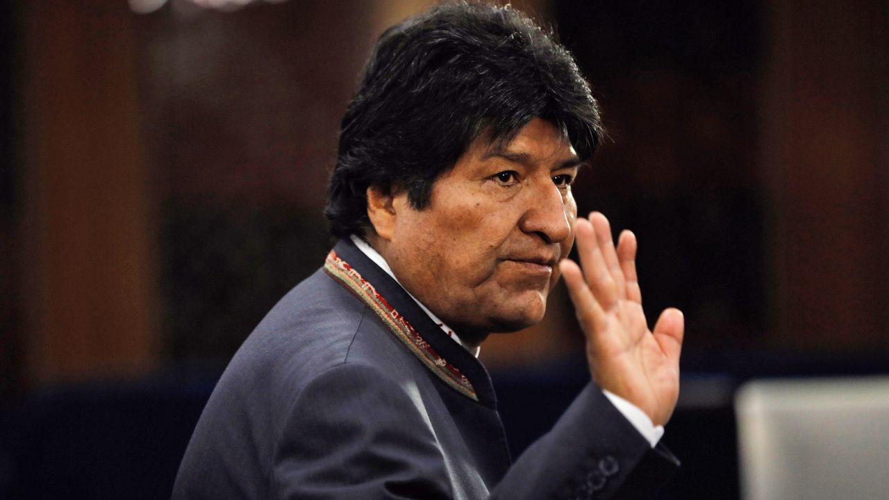Prezydent Evo Morales ogłosił swoją dymisję(fot. PAP/EPA/PETER FOLEY)