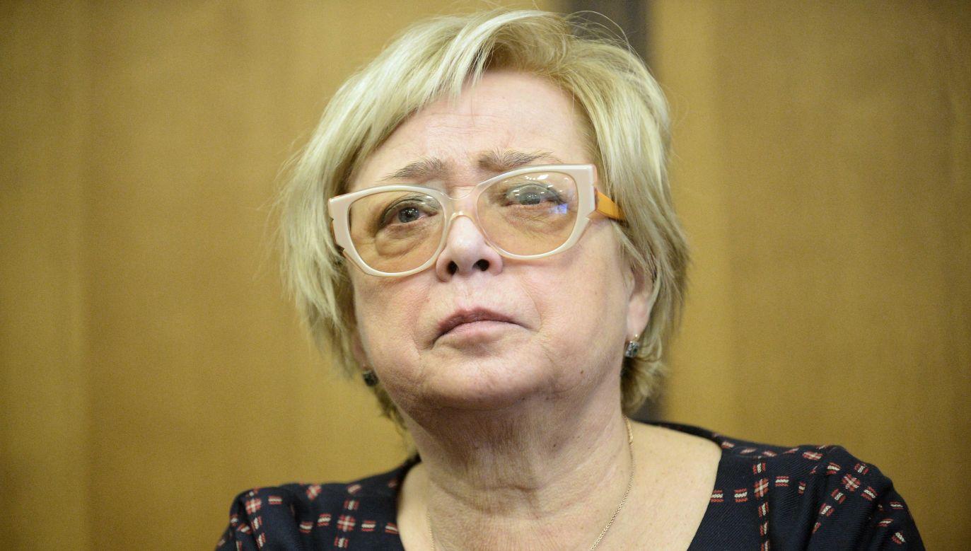 Tajemnicza choroba prof. Gersdorf uniemożliwia jej śledzenie niektórych informacji (PAP/Marcin Obara )
