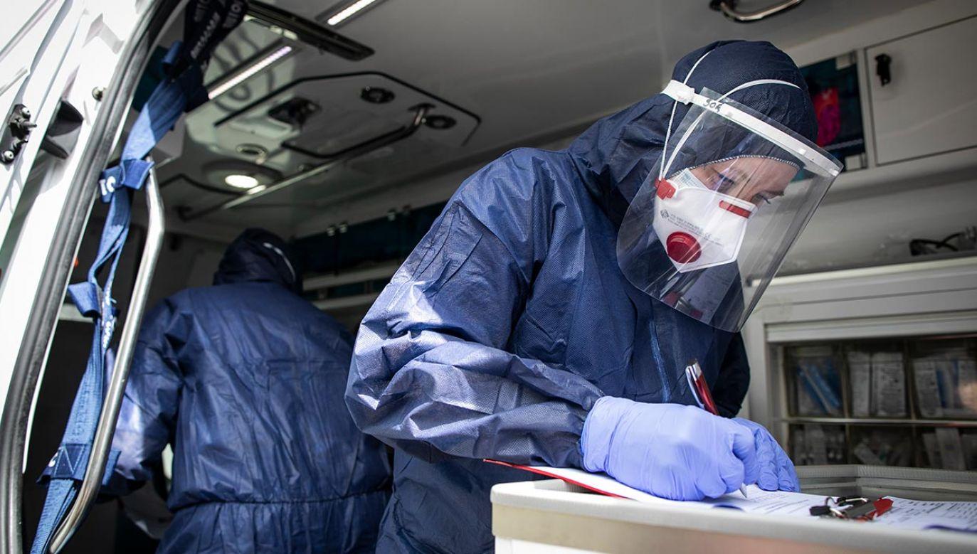Stan epidemii w kraju (fot.  Jacek Szydlowski/NurPhoto via Getty Images)