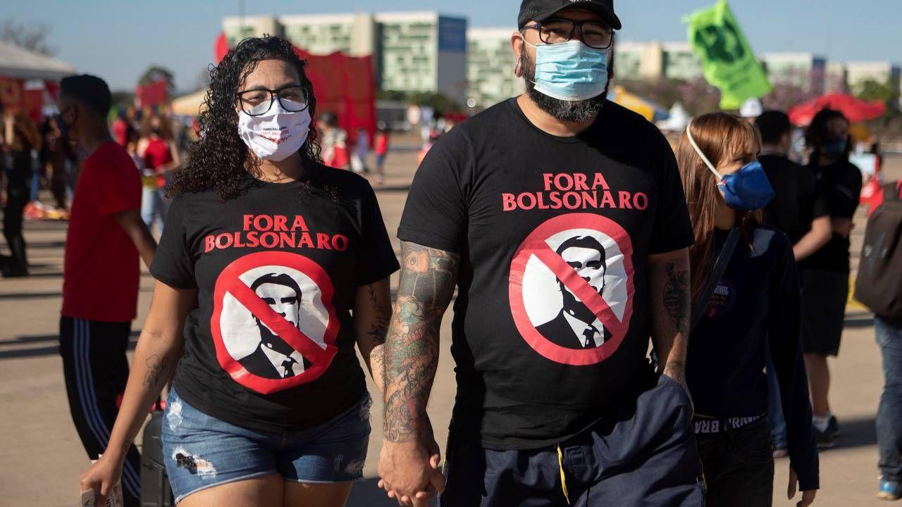 Demonstracje odbyły się w ponad czterystu miastach Brazylii (fot. PAP/EPA/Joedson Alves)