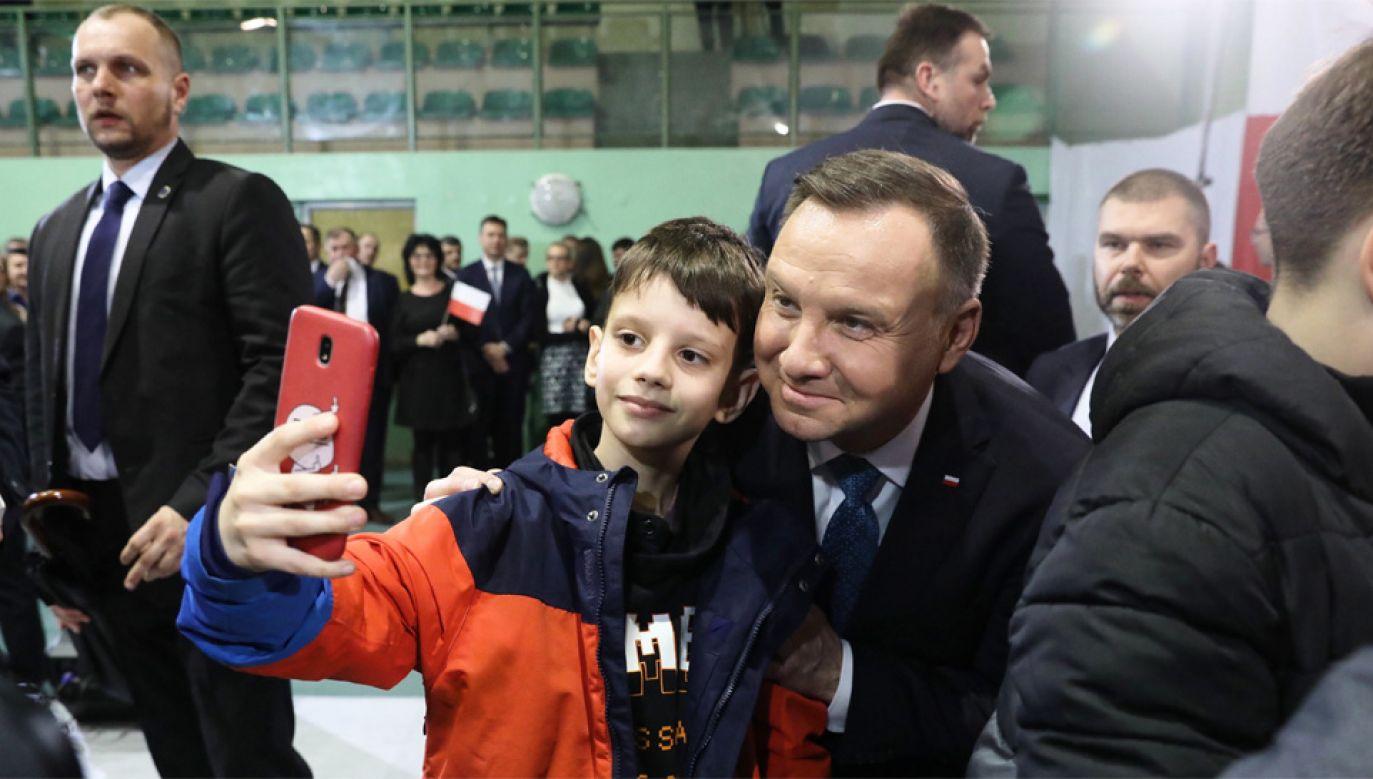 Prezydent Andrzej Duda walczy o reelekcję (fot. PAP/Tomasz Gzell)