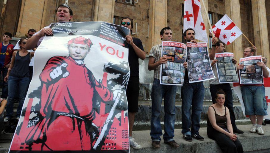 Wojna w Gruzji była dla Władimira Putina poligonem doświadczalnym (fot. Burak Kara/Getty Images)