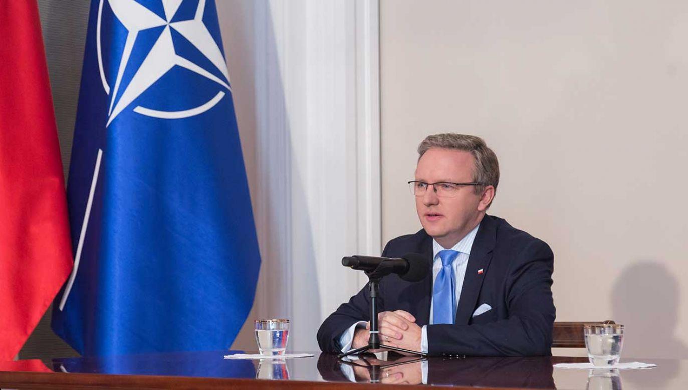 Zdaniem ministra obrony, szef gabinetu prezydenta ma świetne kompetencje, by sprawować urząd szefa NATO (fot. Mateusz Wlodarczyk/NurPhoto/Getty Images)