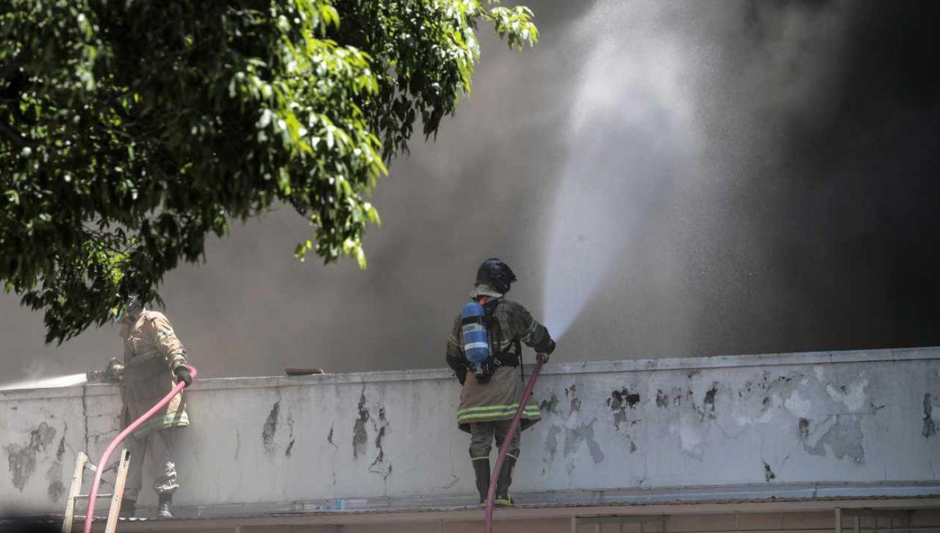Przyczyna pożaru nie jest znana (fot. PAP/EPA/ANTONIO LACERDA)