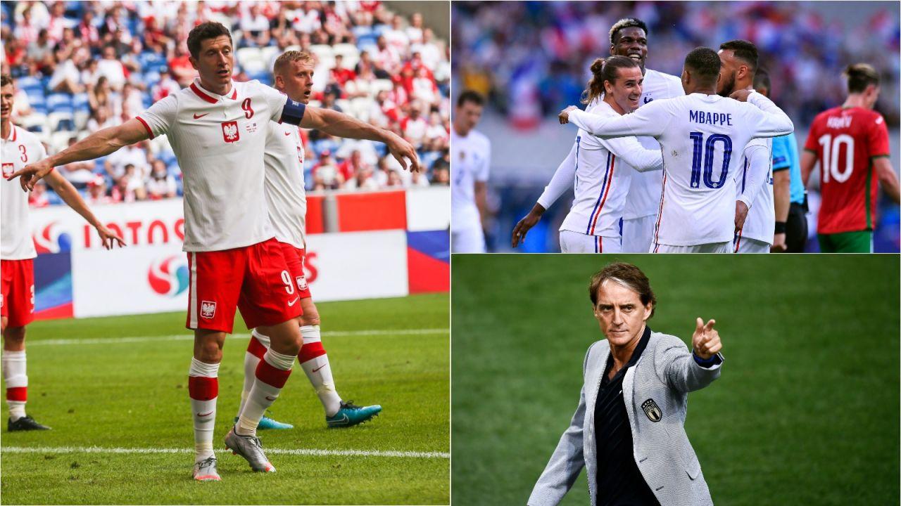 Robert Lewandowski, reprezentacja Francji i Roberto Mancini, trener Włochów – kto zaskoczy na Euro 2020? (fot. Getty Images)