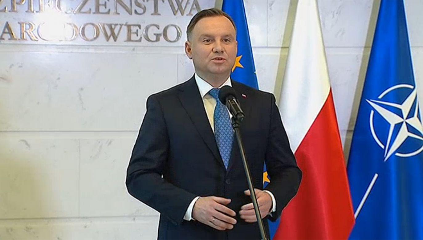 Prezydent Andrzej Duda (fot. tvp.info)