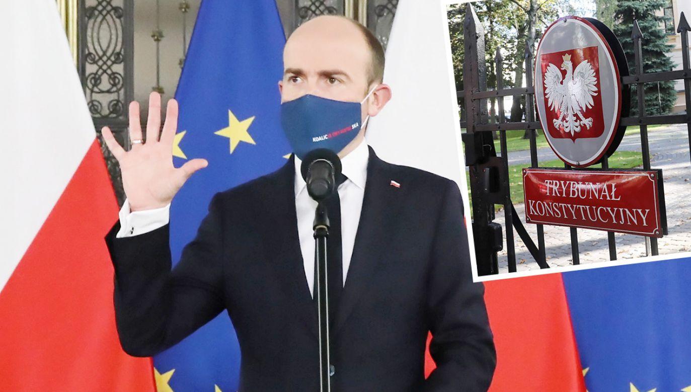 Przewodniczący PO Borys Budka (fot. PAP/Tomasz Gzell)