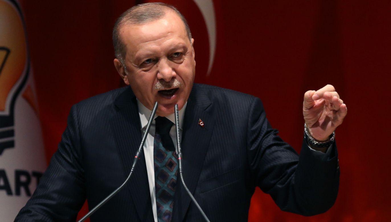 Prezydent Turcji Recep Tayyip Erdogan (fot. PAP/EPA/STR)
