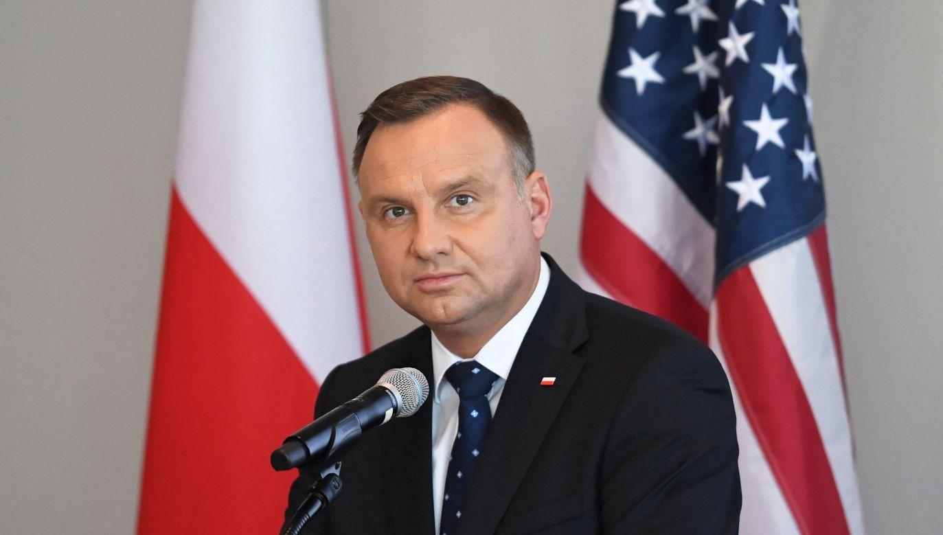 – Czuję dumę, że z największych inwestycji, w Newadzie, jest kopalnia należąca do KGHM Polska Miedź – wyznał prezydent  (fot. PAP/Radek Pietruszka)