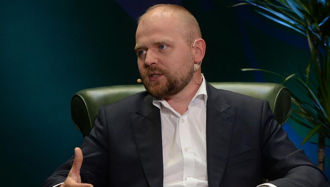 Wiceminister rozwoju Krzysztof Mazur poinformował o odejściu z resortu (fot. Forum/Piotr Guzik)