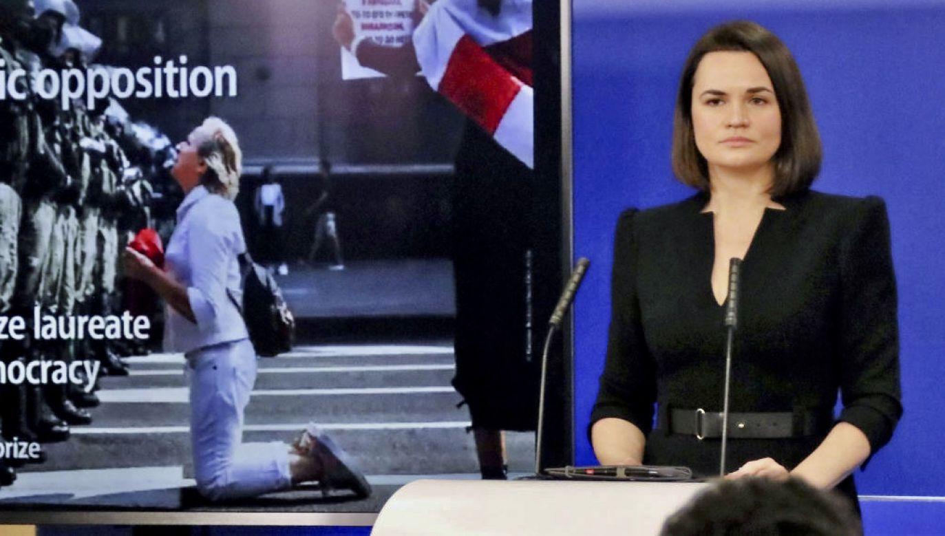 Swiatłana Cichanouska oświadczyła też, że nie zamierza startować w następnych wyborach prezydenckich na Białorusi (fot. Kyodo News/Getty Images)