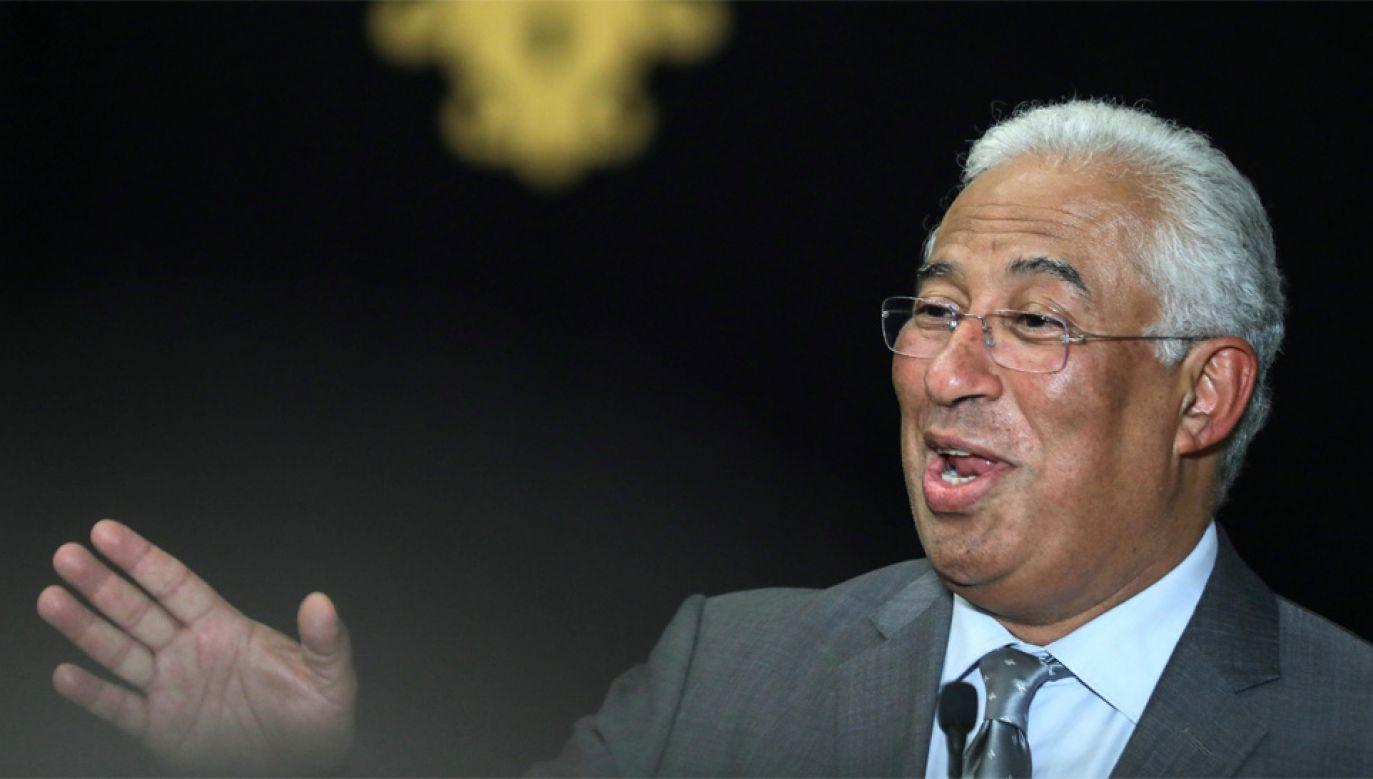 Premier Portugalii Antonio Costa (fot. PAP/EPA/MIGUEL A. LOPES)