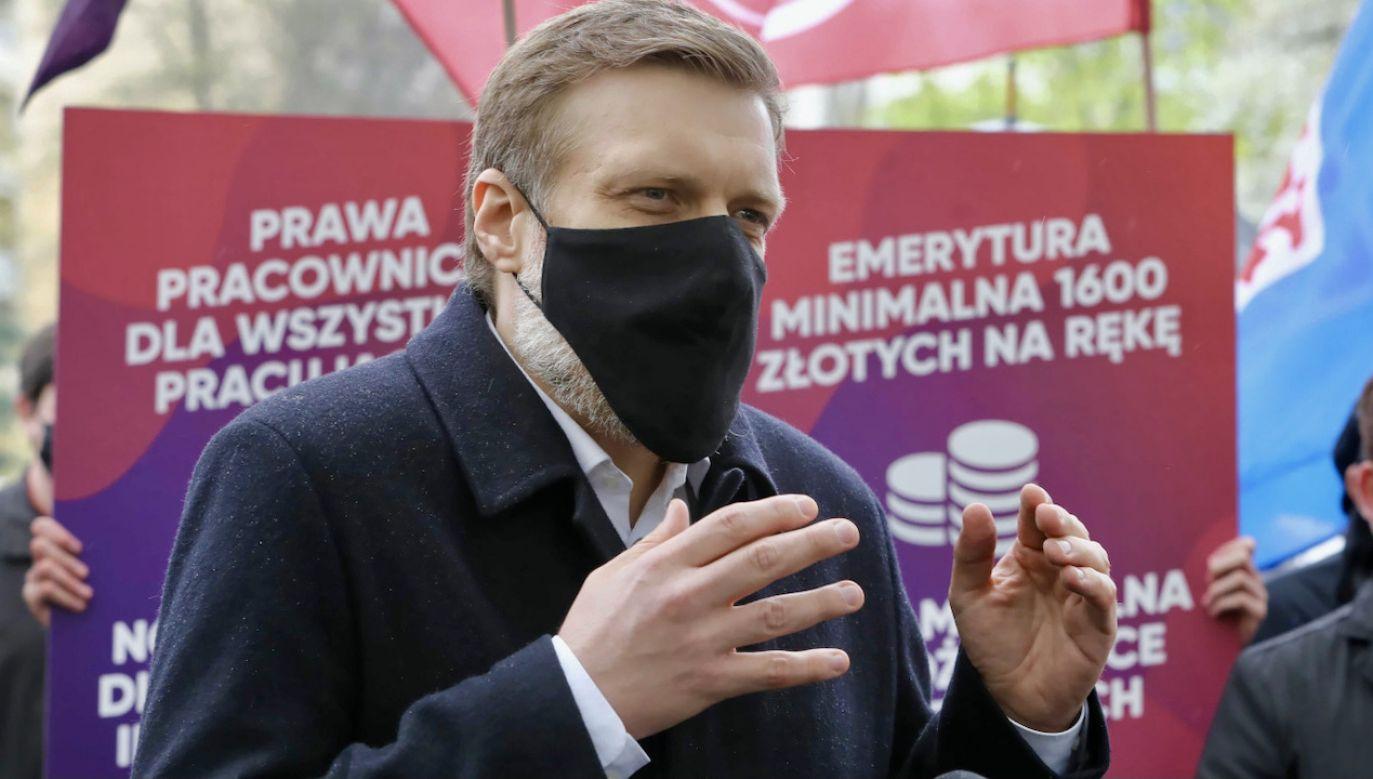 Adrian Zandberg  (fot. PAP/W.Olkuśnik)