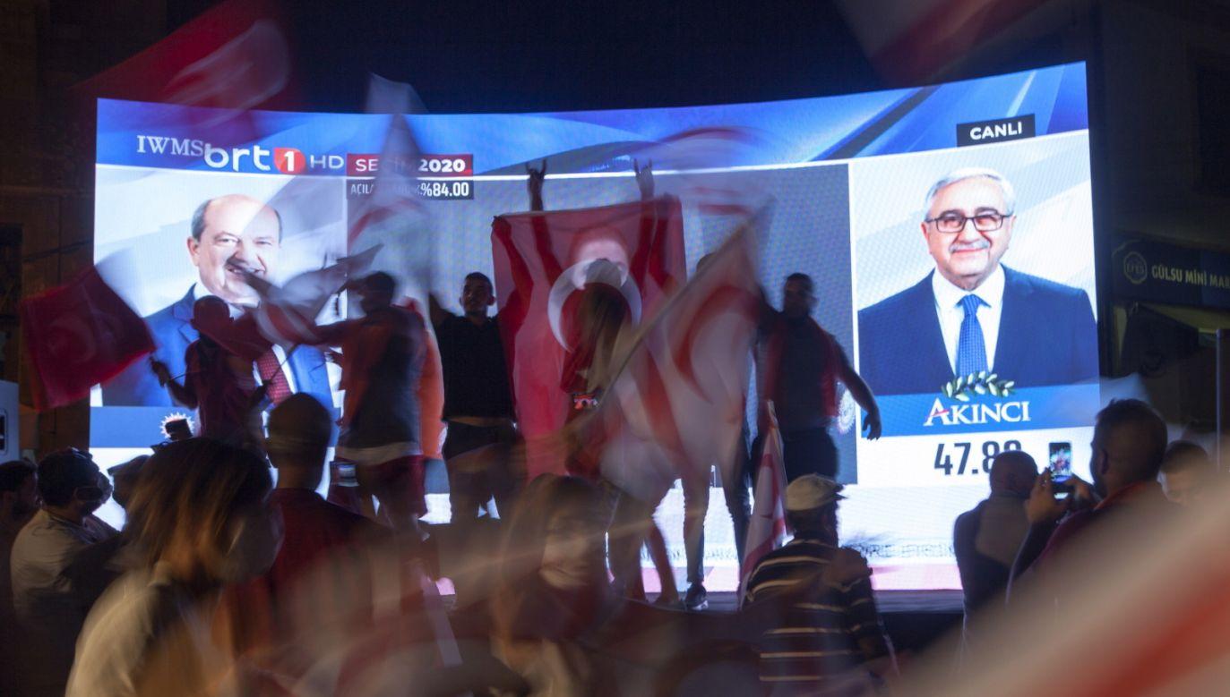 W wyborach walczył także obecny prezydent TRCP Mustafa Akinci  (fot.PAP/EPA/BILGE BEBEK)