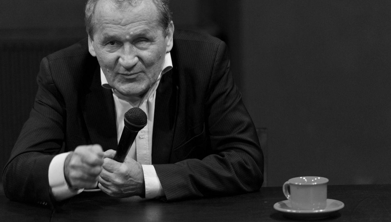 """Spotkanie z Ludwiką i Henrykiem Wujcami zrealizowane w ramach cyklu """"Szkoła z Mistrzem"""" (fot. arch.PAP/Wojciech Pacewicz)"""