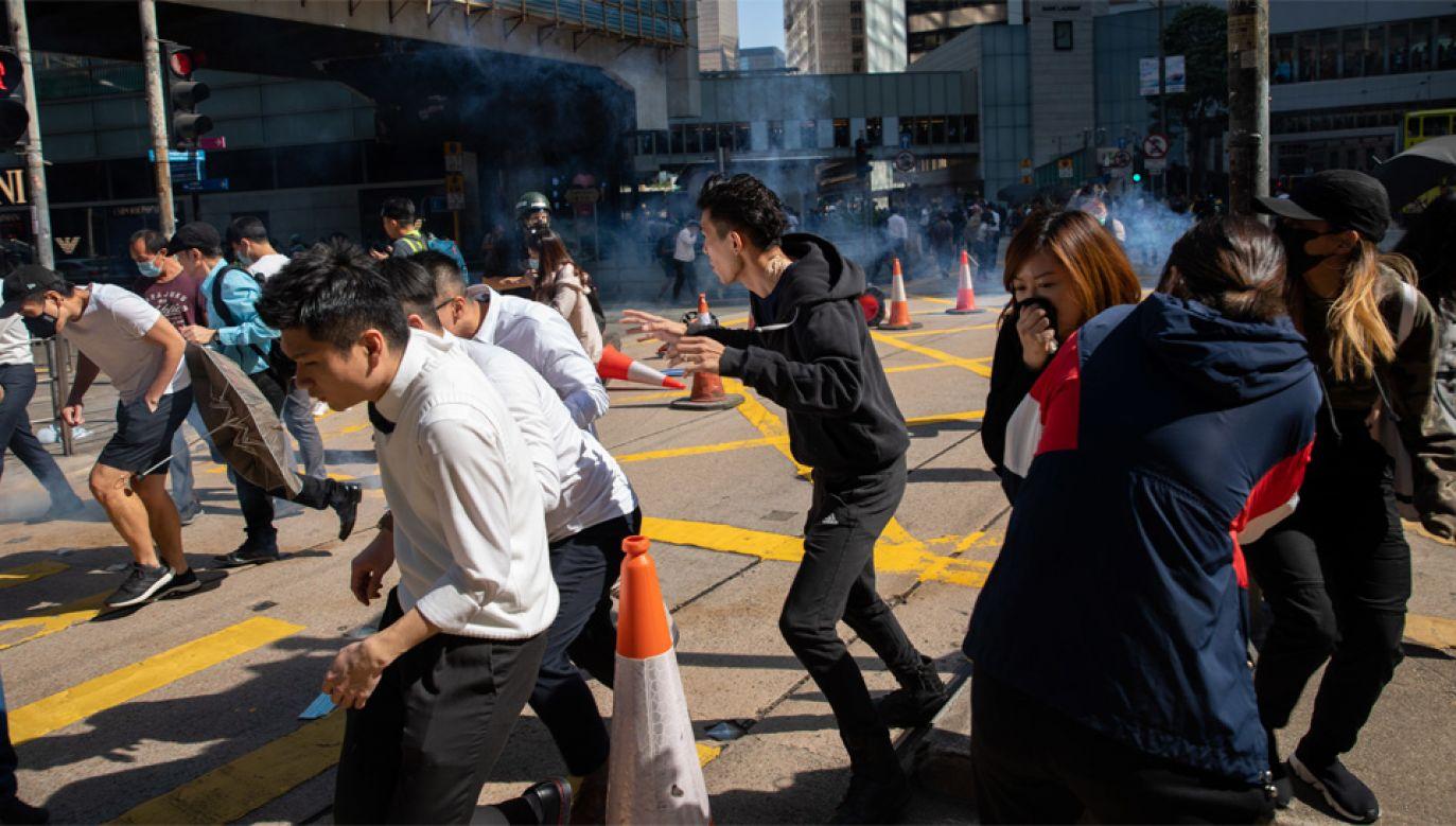 Protesty w Hongkongu trwają od wielu tygodni (fot. PAP/EPA/JEROME FAVRE)