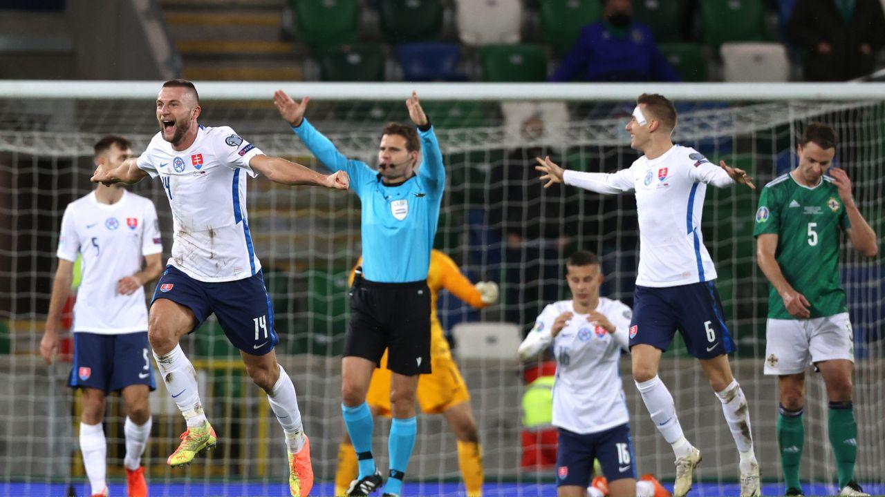 Słowacy nie zaimponowali w barażach przed Euro (fot. Liam McBurney/PA Images via Getty Images)