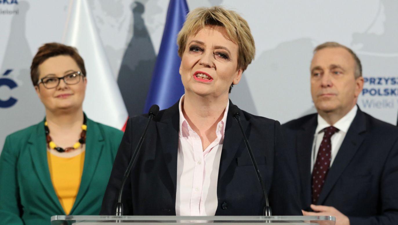 Za udzieleniem absolutorium Hannie Zdanowskiej zagłosowało w sumie 30 samorządowców Koalicji Obywatelskiej i SLD(fot. arch. PAP / Tomasz Gzell)