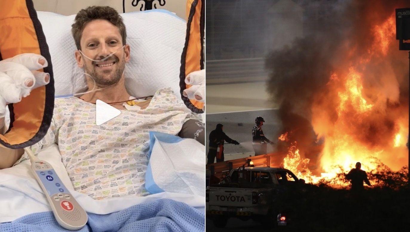 Romain Grosjean w tym sezonie miał zakończyć karierę (fot. Instagram/grosjeanromain, PAP/EPA/TOLGA BOZOGLU)