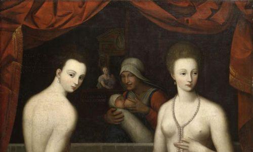 Perły w kształcie gruszek sióstr d'Estreés (ok 1550). Fot. Wikimedia