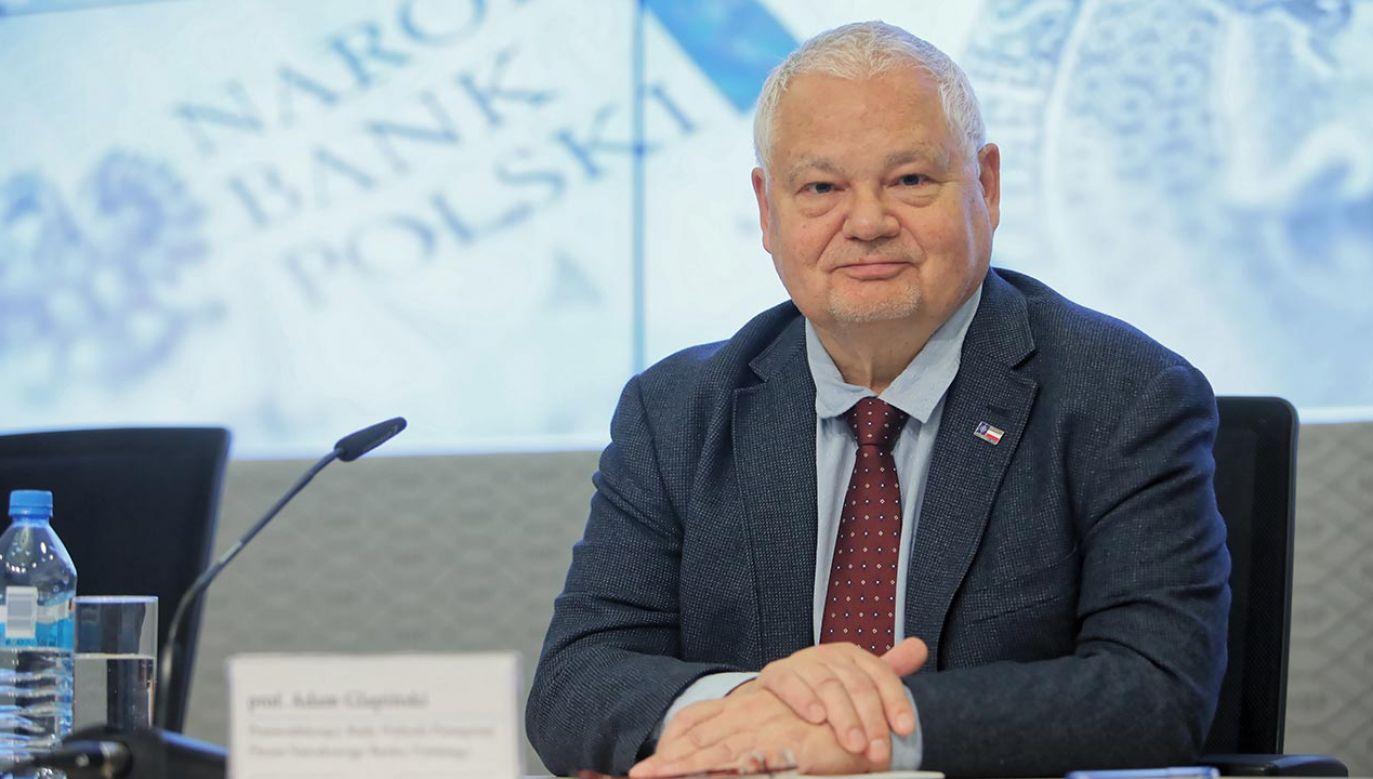 – Jesteśmy przygotowani na wojny gospodarcze, jakie nastąpią po kryzysie – zapewnił Adam Glapiński (fot. PAP/Leszek Szymański)