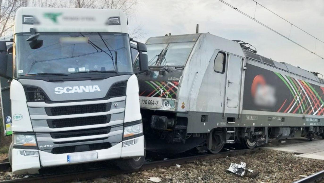 Ruch kolejowy na linii Katowice – Wisła został wstrzymany (fot. policja.pl)