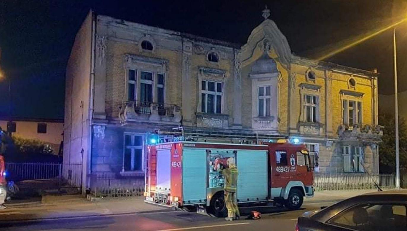 Ewakuowano kilkadziesiąt osób (fot. OSP KSRG Kościan)