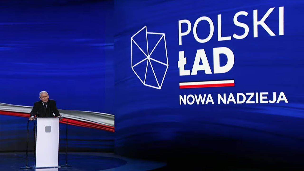 Prezes PiS podkreślał też, że każda gmina może na tym skorzystać (fot. YouTube/Prawo i Sprawiedliwość)