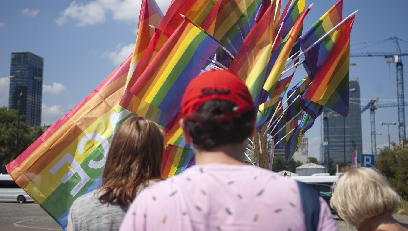 Szczere wyznanie przedstawiciela mniejszości LGBT (fot. Maciej Luczniewski/NurPhoto via Getty Images)
